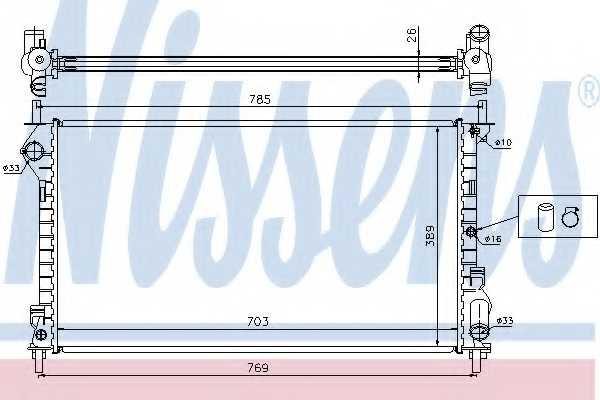 Радиатор охлаждения двигателя NISSENS 62015A - изображение