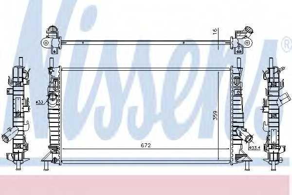 Радиатор охлаждения двигателя NISSENS 62017A - изображение