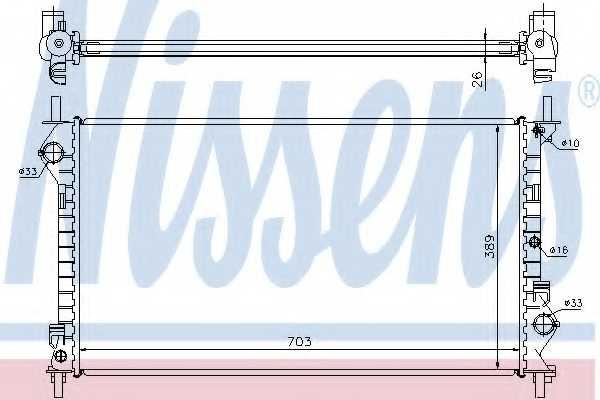 Радиатор охлаждения двигателя NISSENS 62021A - изображение