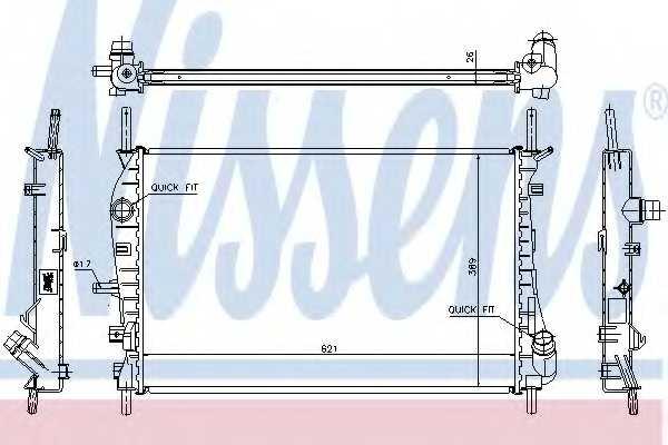 Радиатор охлаждения двигателя NISSENS 62023A - изображение