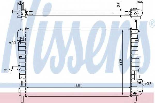 Радиатор охлаждения двигателя NISSENS 62025A - изображение