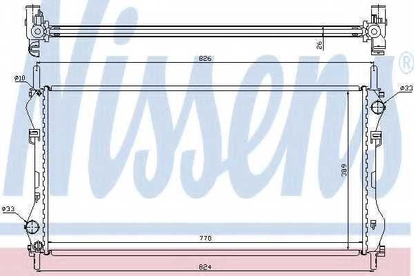 Радиатор охлаждения двигателя NISSENS 62043A - изображение