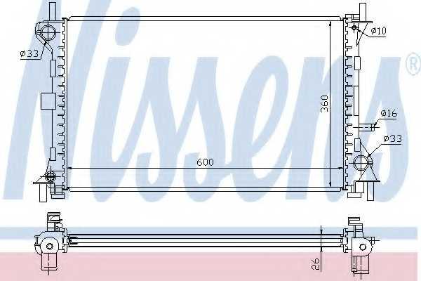 Радиатор охлаждения двигателя NISSENS 62052 - изображение