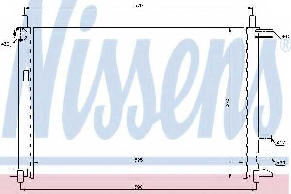Радиатор охлаждения двигателя NISSENS 62053 - изображение