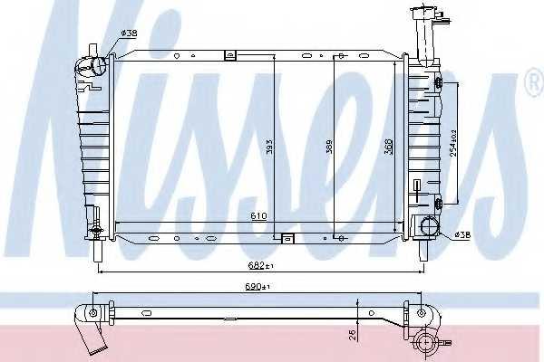 Радиатор охлаждения двигателя NISSENS 62065 - изображение