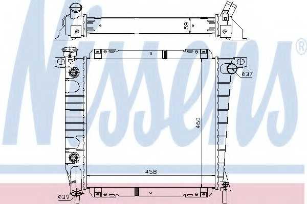 Радиатор охлаждения двигателя NISSENS 620671 - изображение