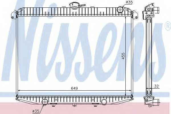 Радиатор охлаждения двигателя NISSENS 62069A - изображение