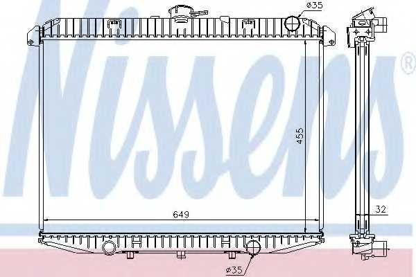 Радиатор охлаждения двигателя NISSENS 62070A - изображение