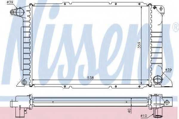 Радиатор охлаждения двигателя NISSENS 62080A - изображение