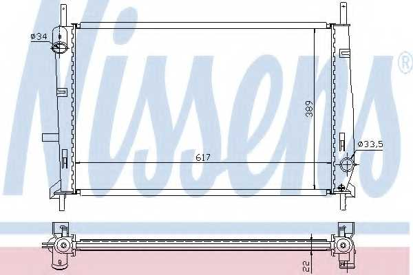 Радиатор охлаждения двигателя NISSENS 62104 - изображение