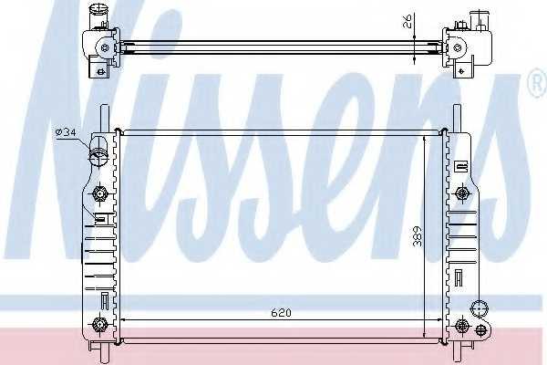 Радиатор охлаждения двигателя NISSENS 62105 - изображение