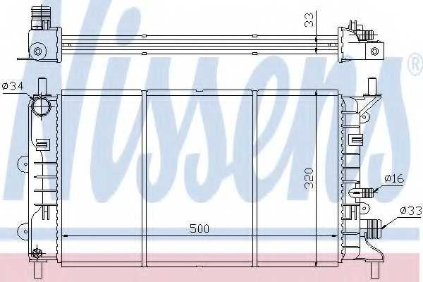 Радиатор охлаждения двигателя NISSENS 621621 - изображение