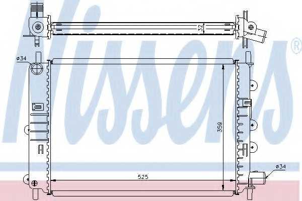 Радиатор охлаждения двигателя NISSENS 62164A - изображение