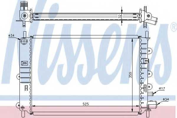 Радиатор охлаждения двигателя NISSENS 62217A - изображение