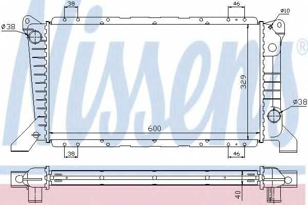 Радиатор охлаждения двигателя NISSENS 62241A - изображение
