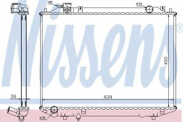 Радиатор охлаждения двигателя NISSENS 62246A - изображение