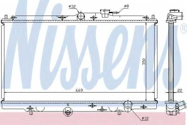 Радиатор охлаждения двигателя NISSENS 62258 - изображение