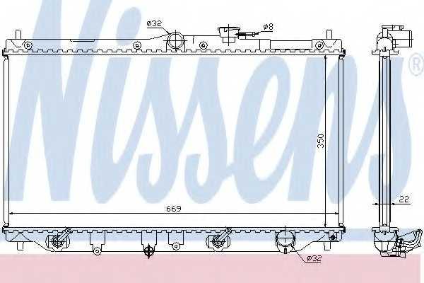 Радиатор охлаждения двигателя NISSENS 622831 - изображение