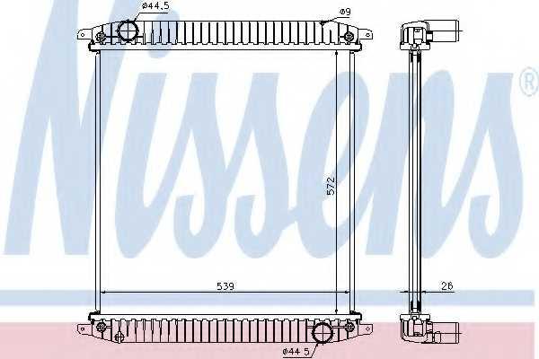 Радиатор охлаждения двигателя NISSENS 62341A - изображение