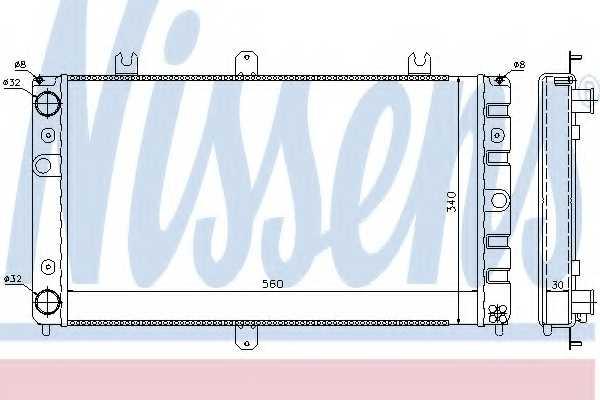 Радиатор охлаждения двигателя NISSENS 623553 - изображение