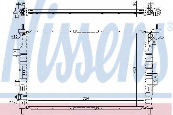 Радиатор охлаждения двигателя NISSENS 62357 - изображение