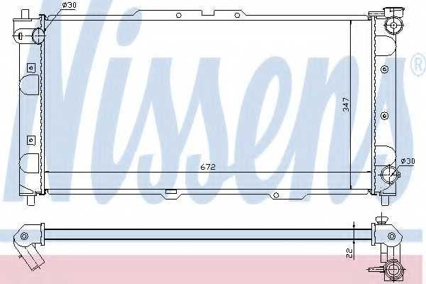 Радиатор охлаждения двигателя NISSENS 62382A - изображение