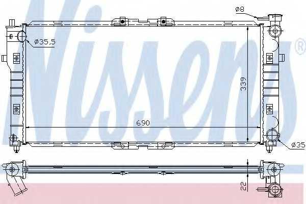 Радиатор охлаждения двигателя NISSENS 62392A - изображение