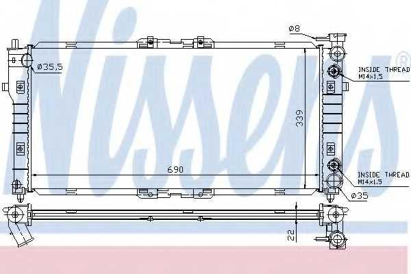 Радиатор охлаждения двигателя NISSENS 62393 - изображение