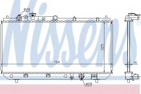 Радиатор охлаждения двигателя NISSENS 62403 - изображение