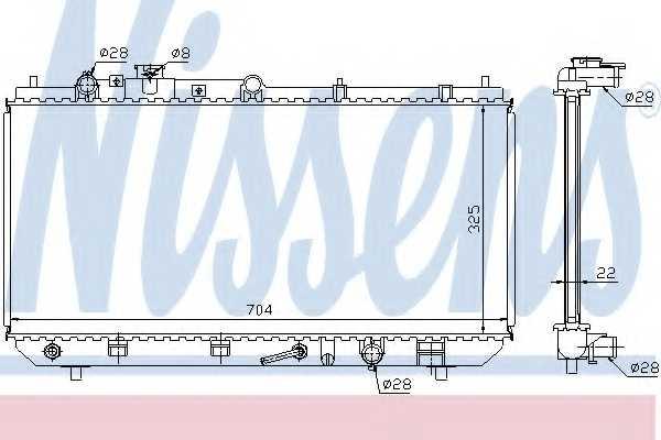 Радиатор охлаждения двигателя NISSENS 624041 - изображение