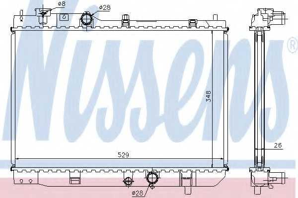 Радиатор охлаждения двигателя NISSENS 62431A - изображение