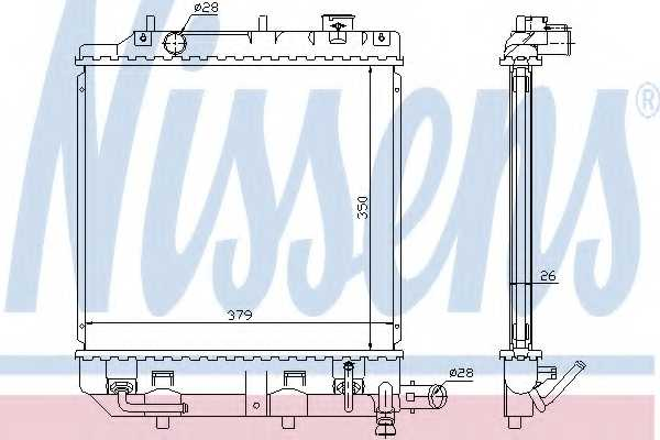 Радиатор охлаждения двигателя NISSENS 62459 - изображение