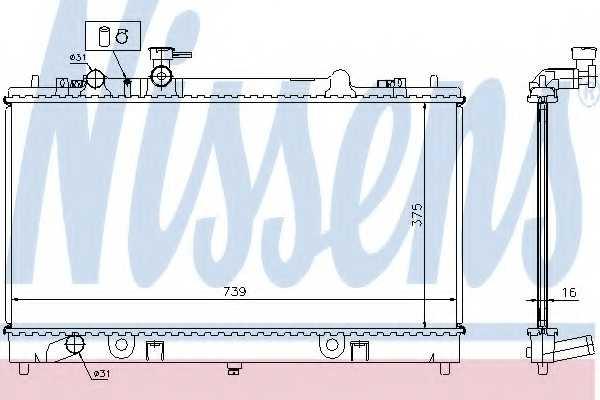 Радиатор охлаждения двигателя NISSENS 62464A - изображение