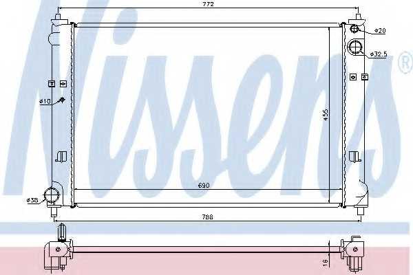 Радиатор охлаждения двигателя NISSENS 62468 - изображение