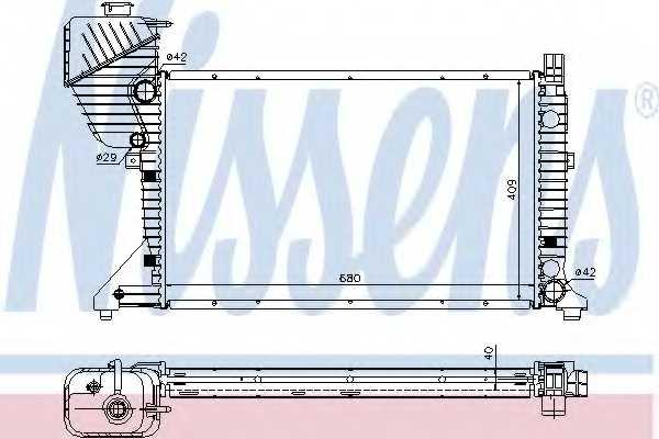 Радиатор охлаждения двигателя NISSENS 62519A - изображение