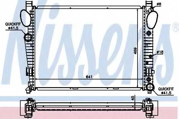 Радиатор охлаждения двигателя NISSENS 62547A - изображение
