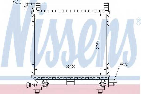 Радиатор охлаждения двигателя NISSENS 62550 - изображение