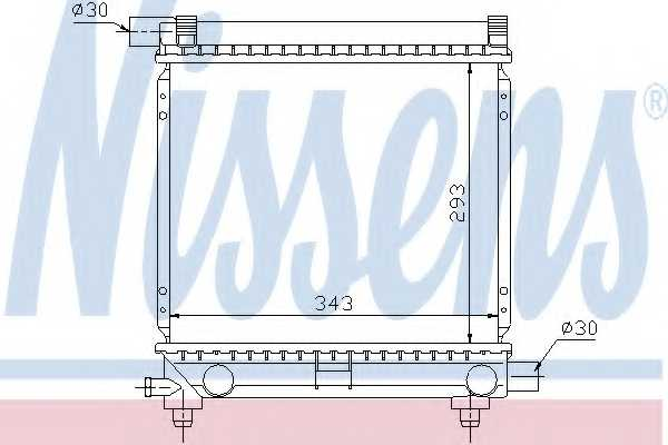 Радиатор охлаждения двигателя NISSENS 62551 - изображение