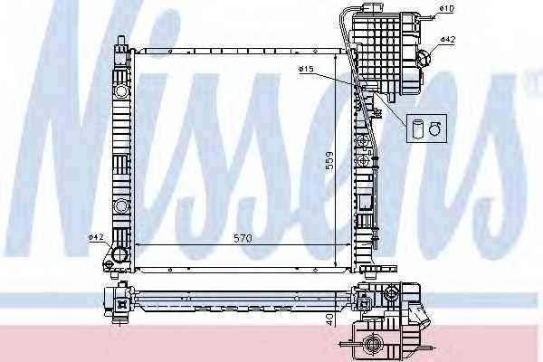 Радиатор охлаждения двигателя NISSENS 62559A - изображение