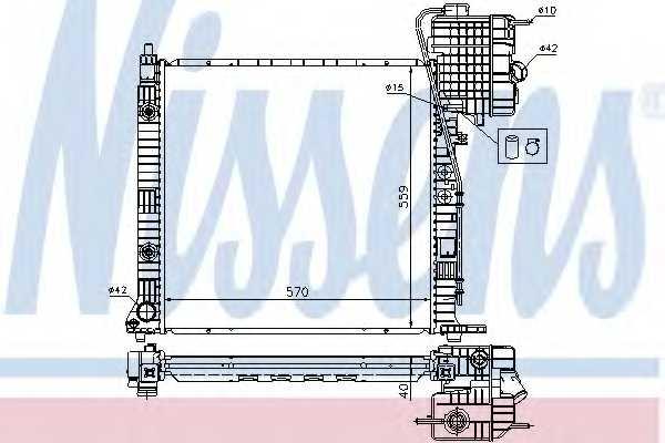 Радиатор охлаждения двигателя NISSENS 62561A - изображение