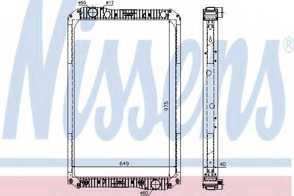 Радиатор охлаждения двигателя NISSENS 62571A - изображение