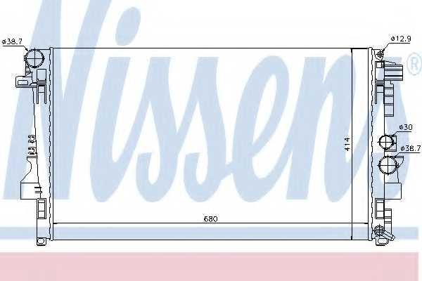 Радиатор охлаждения двигателя NISSENS 62572 - изображение