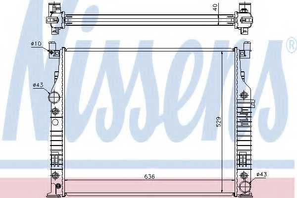 Радиатор охлаждения двигателя NISSENS 62576A - изображение