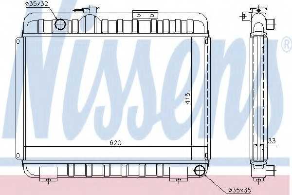 Радиатор охлаждения двигателя NISSENS 62581 - изображение