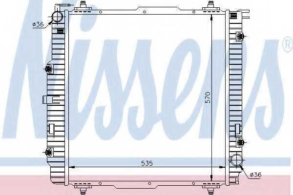 Радиатор охлаждения двигателя NISSENS 62599A - изображение