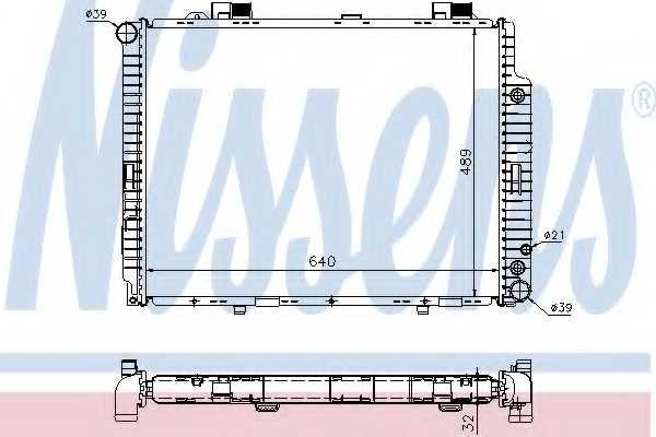 Радиатор охлаждения двигателя NISSENS 62608A - изображение