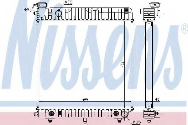 Радиатор охлаждения двигателя NISSENS 62632 - изображение