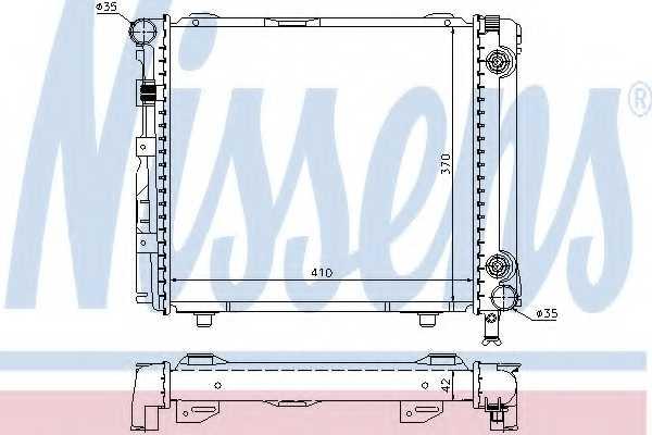 Радиатор охлаждения двигателя NISSENS 62650 - изображение