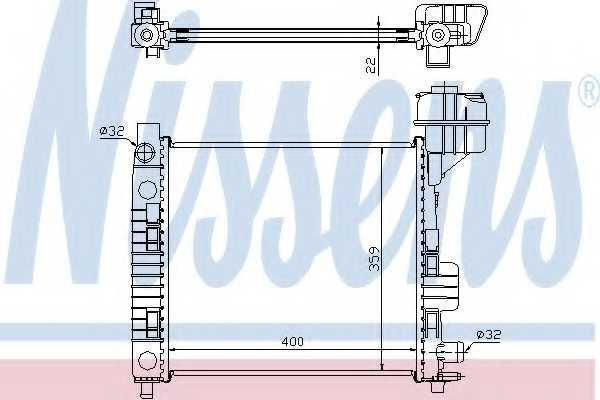 Радиатор охлаждения двигателя NISSENS 62663 - изображение