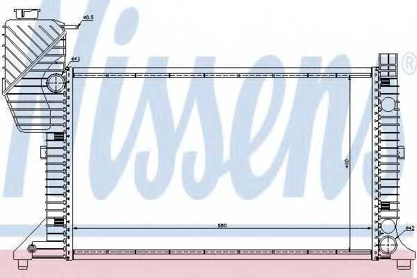 Радиатор охлаждения двигателя NISSENS 62664A - изображение